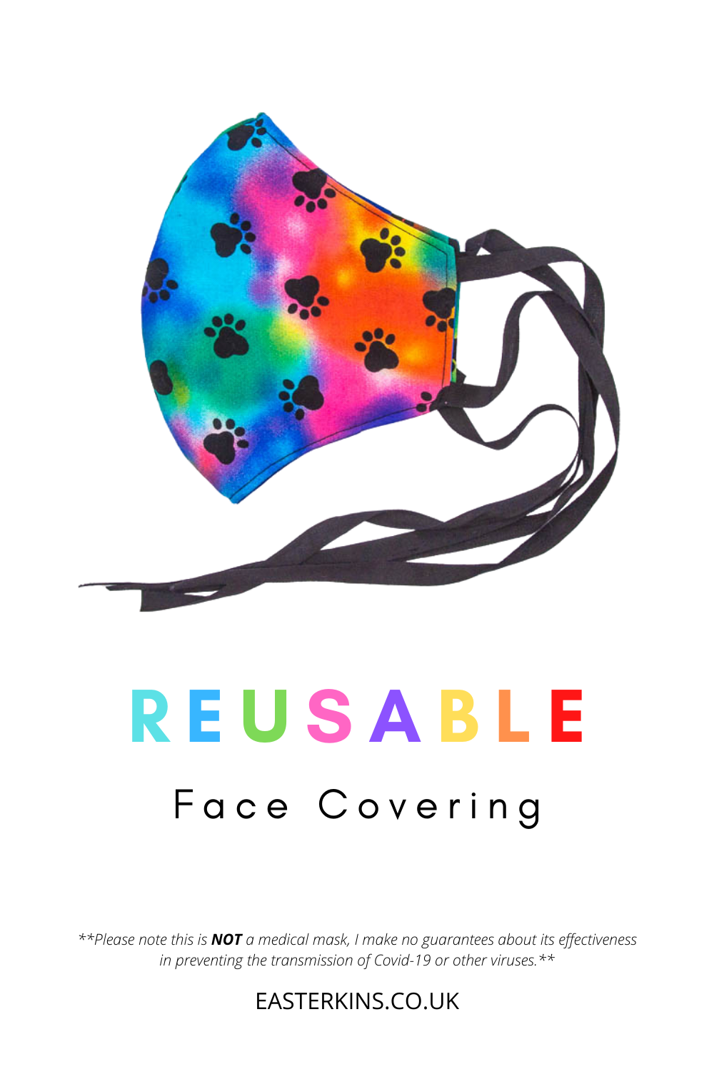 Reusable Face Covering Easterkins In 2020 Face Cover Reusable Gifts For Pet Lovers