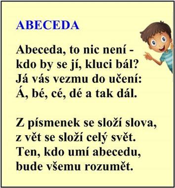 Cvičení se slabikami k jednotlivým písmenům abecedy