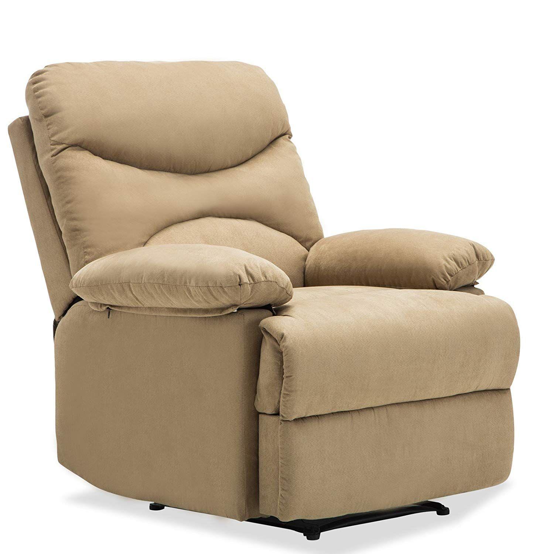 SUNCOO Microfiber Recliner Sofa Chair Ergonomic Lounge