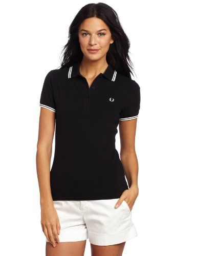 f1ebcc23 Fred Perry Women's Twin Tipped Polo Shirt, Black, « Impulse Clothes ...