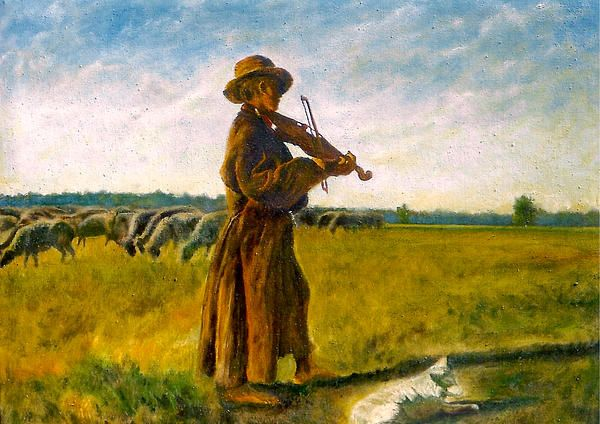 Oil on canvas the shepherd by henryk gorecki fine art america
