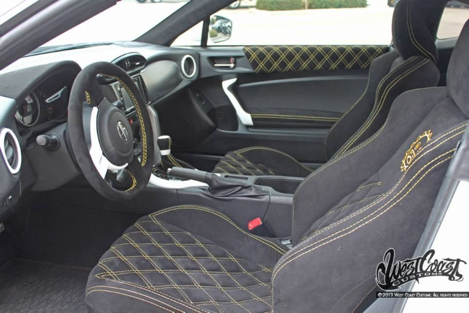 Custom Interior With Ryan Jr S Logo Stitched Into The Seats