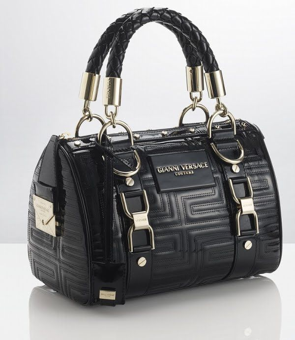 1c3d96e1d998 GIANNI VERSACE COUTURE Black Studded Tote ✤HAND me.the BAG✤