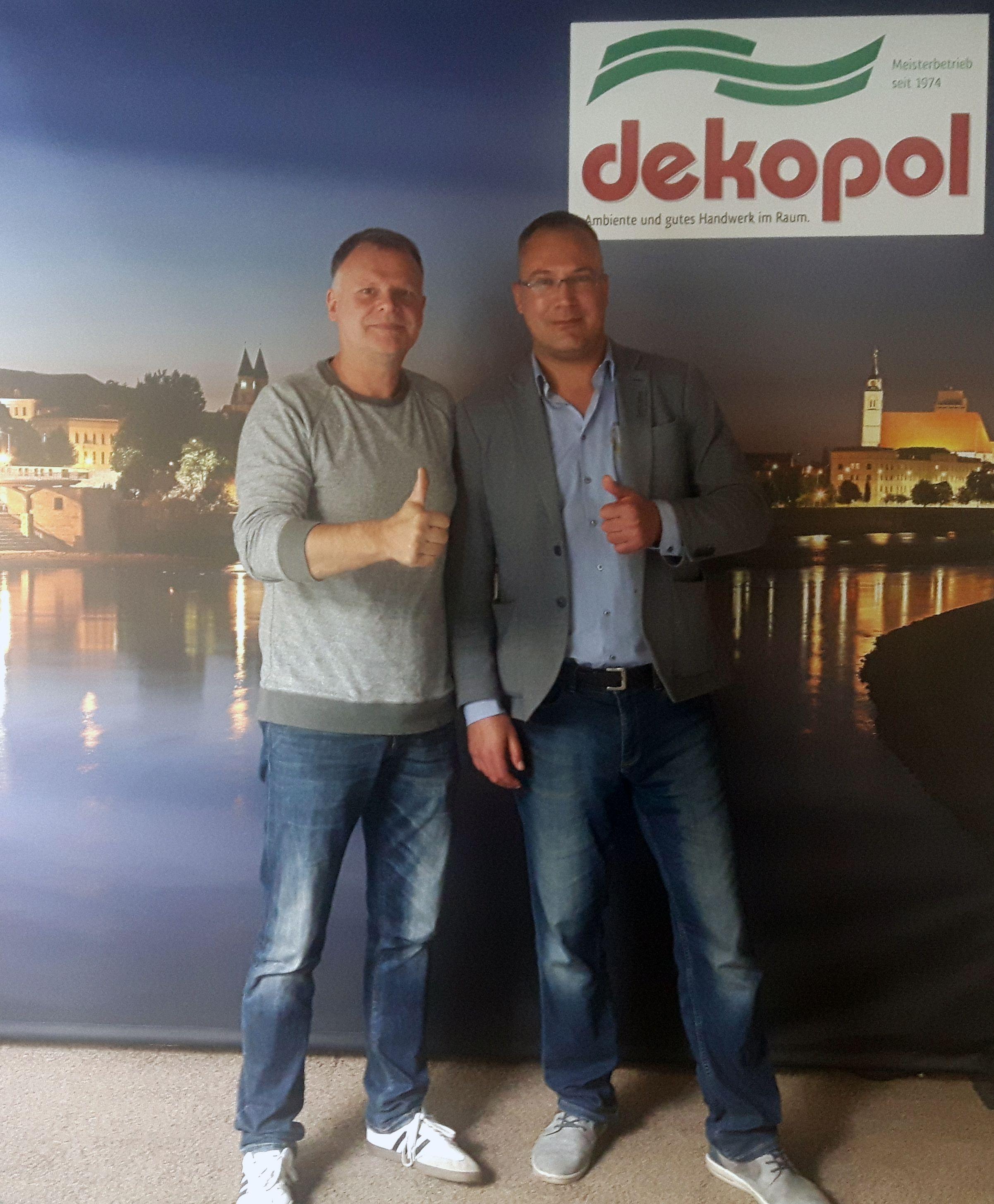 Raumausstatter Magdeburg david fehse zu gast bei dekopol in magdeburg neuer firmenkunde