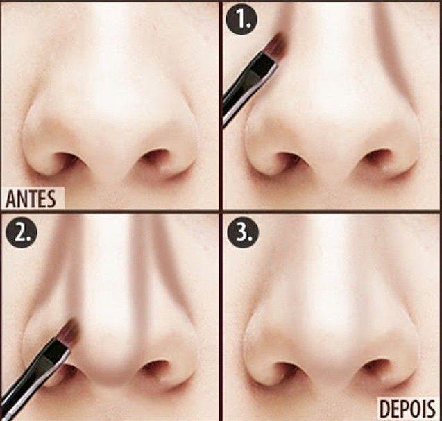 Truques de maquiagem para afinar o nariz  5 passos