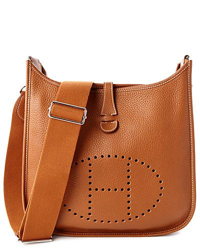 Hermes Gold Clemence Leather Evelyne III PM
