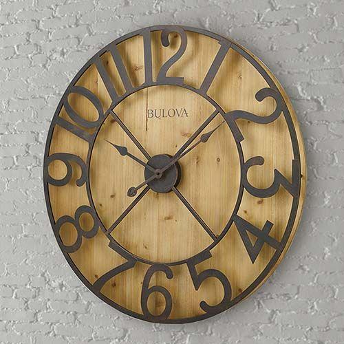 Mcdaniel Clock Bulova Wall Clock Oversized Wall Clock Gallery Wall Clock