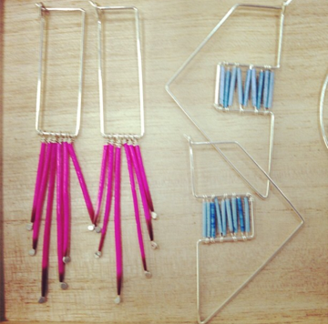 Kyyote jewelry made from recycled silver and porcupine quills