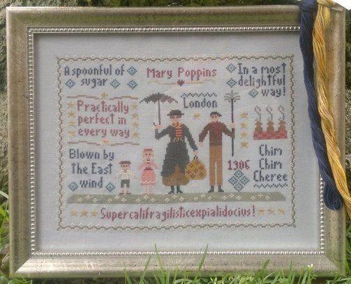 Mary Poppins Sampler Cross Stitch Chart by ShamrockCrossStitch