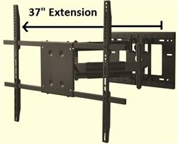 37 Inch Extension Articulating Wall Mount Bracket 50in 75in Tvs Tv Wall Brackets Wall Mount Bracket Tv Wall Mount Bracket