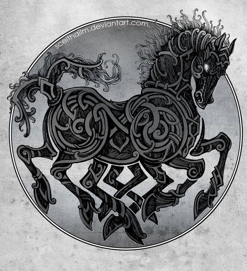 Image of Sleipnir horse of Odin Odin weapons