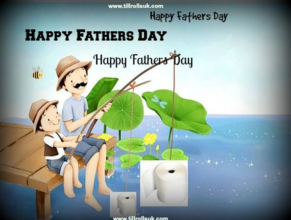 Happy Fathers Day - fishing for till rolls? try www.tillrollsuk.com :) Dont forget to stock up on your till rolls in time for the #fathersday rush