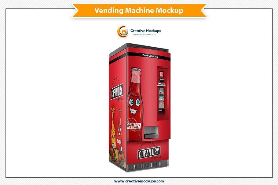 Vending Machine Psd Mockup Mockup Presentation Design Mockup Psd
