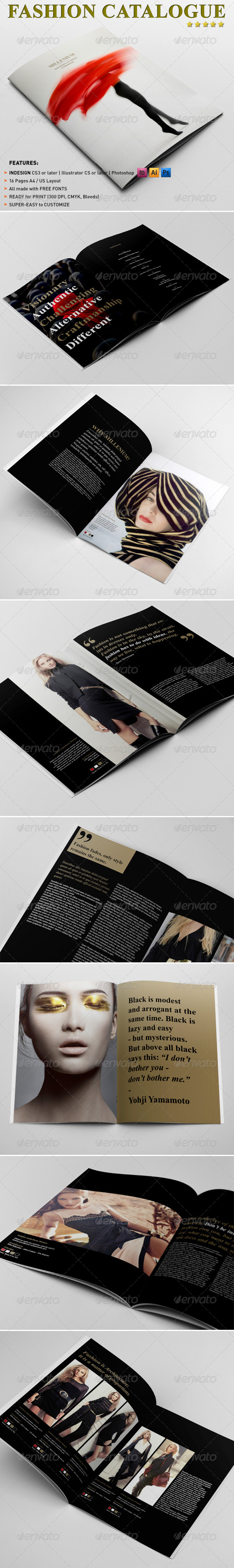 Fashion Catalogue  Brochure Template  Brochure Template