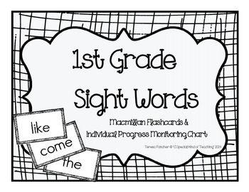 1st Grade MacMillan McGraw-Hill Sight Word Flash Cards