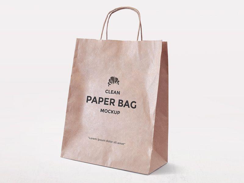 Download Freebie Simple Paper Bag Mockup Bag Mockup Paper Bag Design Paper Bag