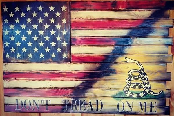 Charred American Flag Dont Tread On Me