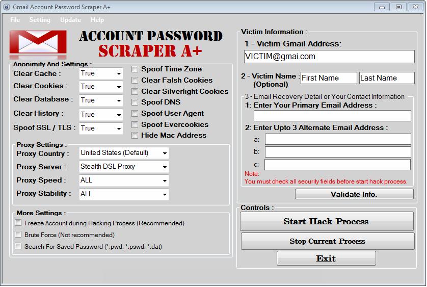 wifi password scrapper