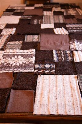 A Craft a Day: No Felt Sweater Blanket