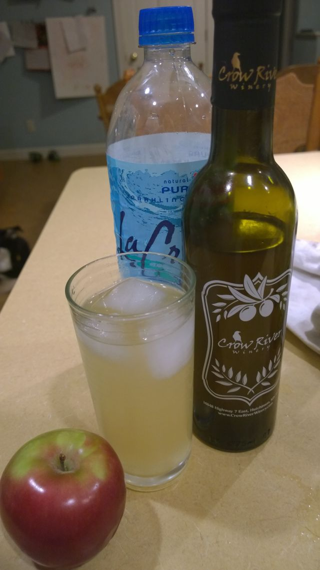 Fresh cold process apple shrub with Honey Ginger vinegar from Crow River Winery