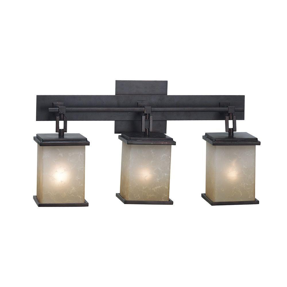 Oil Rubbed Bronze Bathroom Light. Kenroy Home Lighting Modern Bathroom Light With Amber Glass In Oil Rubbed Bronze Finish 03374