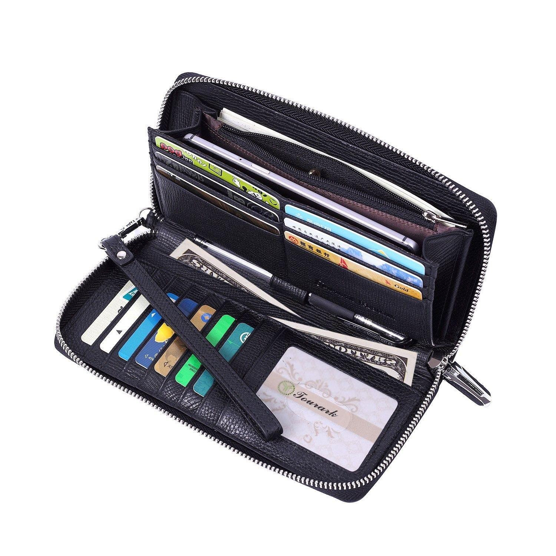 beb922f72 Women's Bags, Wallets, Womens Wallets RFID Blocking Ladies Clutch Leather  Zip Around Travel Purse Wristlet - Black Model 1 - CW1868S0AUS #fashion # Wallets ...