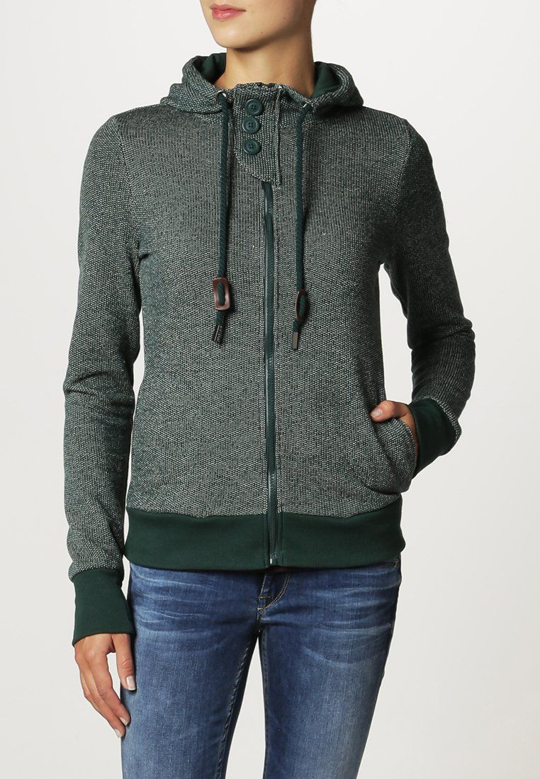 Zip up hoodie deep night green cloudy @ Zalando.co.uk