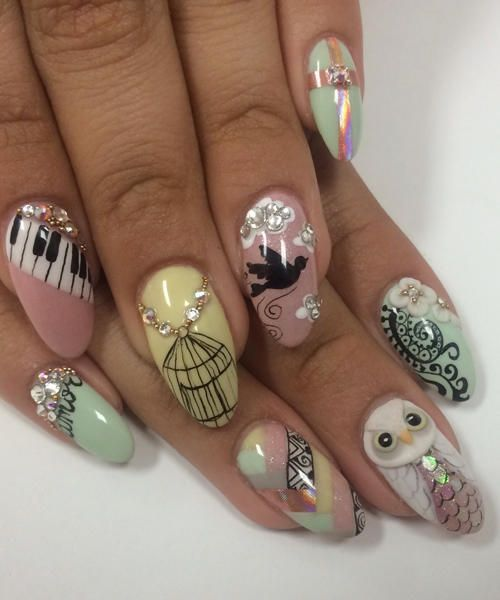 Gorgeous Vintage Nail Art Designs! - Endless Madhouse!: Gorgeous Vintage Nail Art Designs! A World Of