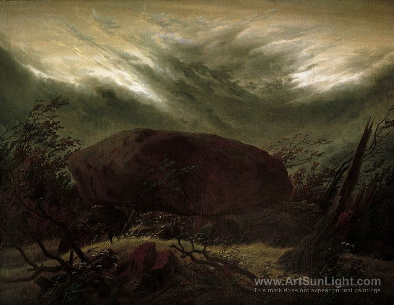 megalithic-grave-in-the-fall-by-Caspar-David-Friedrich-060.jpg 780×605 pikseliä