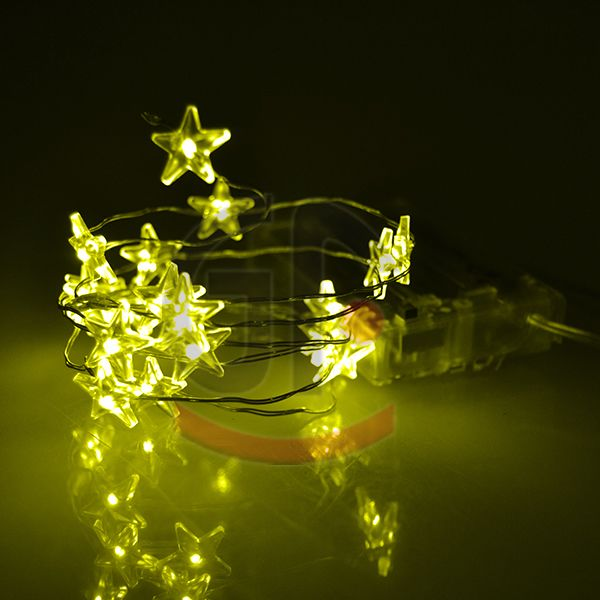 forma de estrella de cobre cadena de luz
