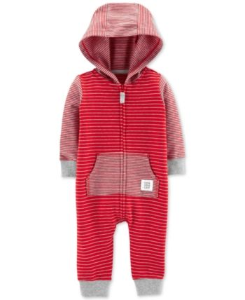 d158e1fd9 Carter's Carter Baby Boys Striped Hooded Cotton Coverall in 2019 ...