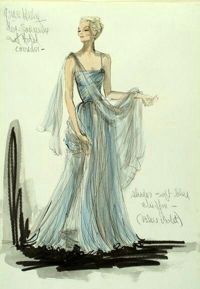 Da Edith Sera Bozzetto Per Kelly Grace Dell'abito Disegnato Head YWEDH29I