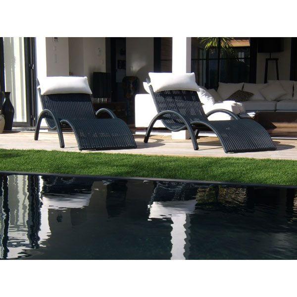 Bain de soleil avec coussin têtière LOUNGER - Maison Facile  www