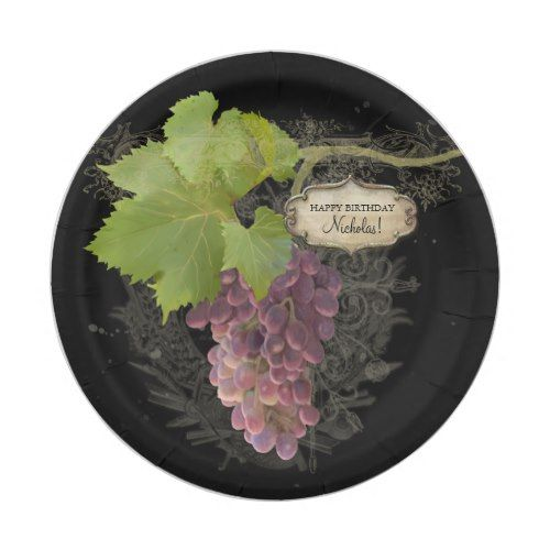 Happy Birthday Party Wine Grapes Vineyard Theme Paper Plate | Wine Birthday Party | Pinterest | Happy birthday parties Happy birthday and Birthdays  sc 1 st  Pinterest & Happy Birthday Party Wine Grapes Vineyard Theme Paper Plate | Wine ...