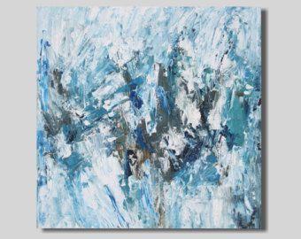 Playa pintura abstracta pintura de acrílico por SageMountainStudio