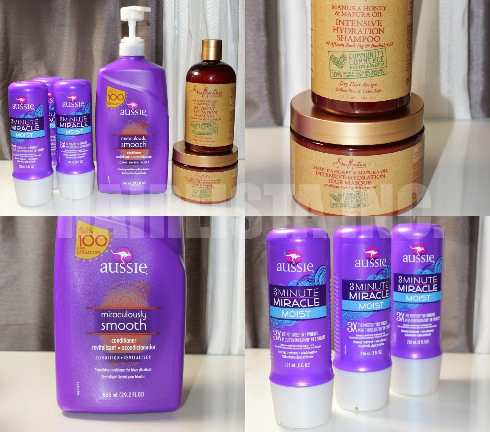 Product Haul: Aussie Moist   Aussie 3 Minute   Shea Moisture Manuka Honey (Hairliciousinc.com) #hairlista #healthyhaircare #hairjourney