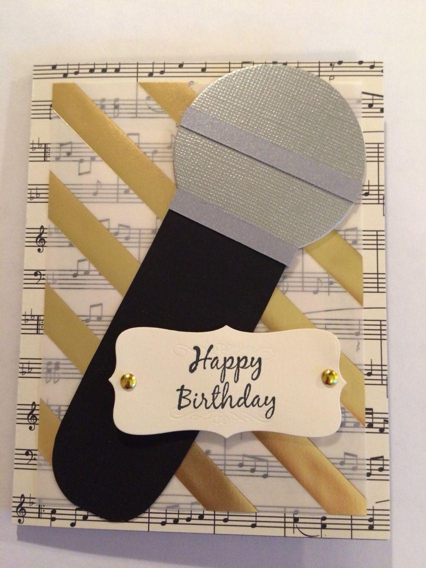 Microphone Card Cards Birthday Invitations Kids Kids Birthday