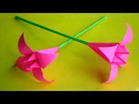 Оригами Цветы Из Бумаги Для Открыток, Кусудам. Как Сделать Поделки Своими Руками - YouTube