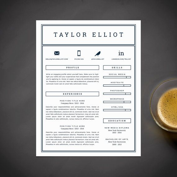 Masculine And Minimalist Resume Template Resume Stationery