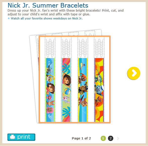 http://www.nickjr.com/printables/nick-jr-summer-bracelets.jhtml