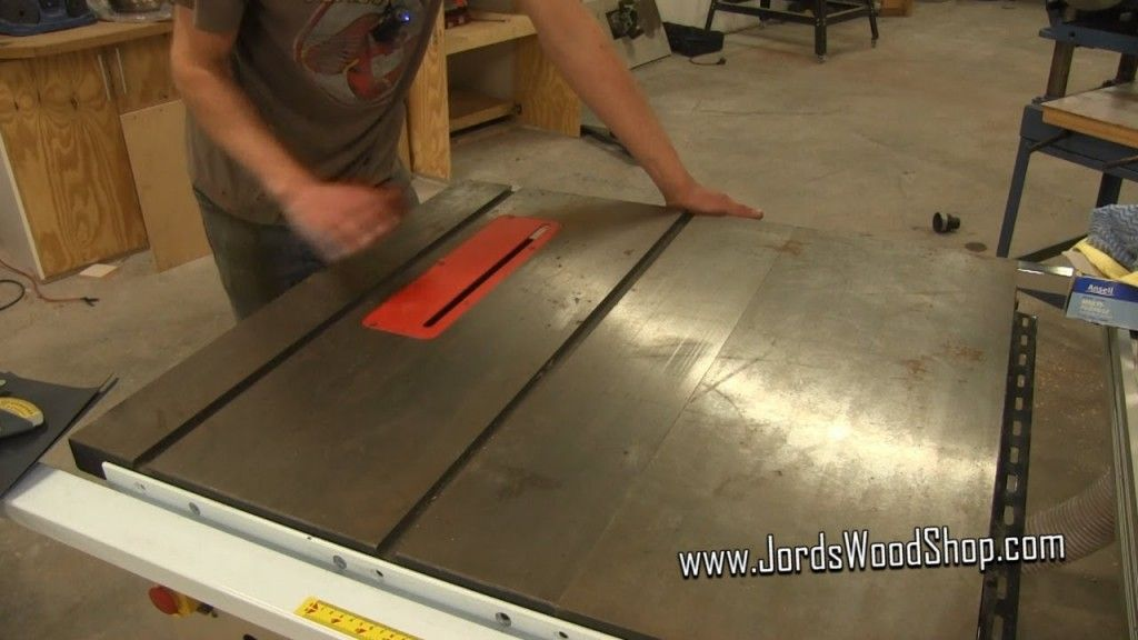 Video Combat rust at the table saw Table saw
