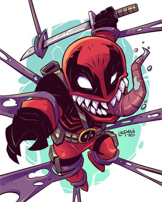 Venom Deadpool By Derek Laufman
