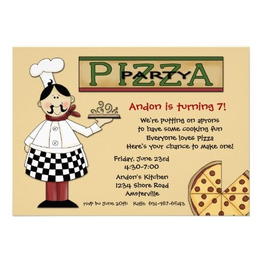 pizza party invitation like the wording for make your own