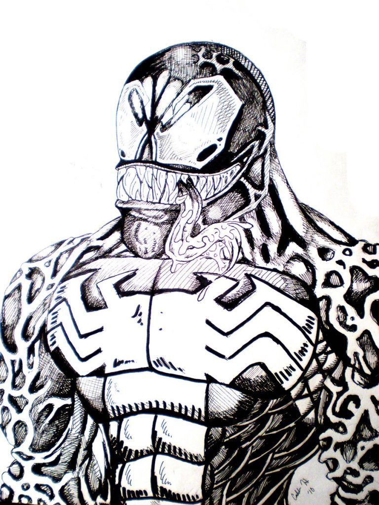 Free Printable Venom Coloring Pages For Kids Coloring