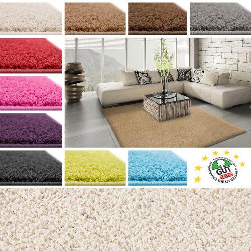 Floori Shaggy Hochflor Teppich - 100x150cm - schwarz Floori - hochflor teppich wohnzimmer