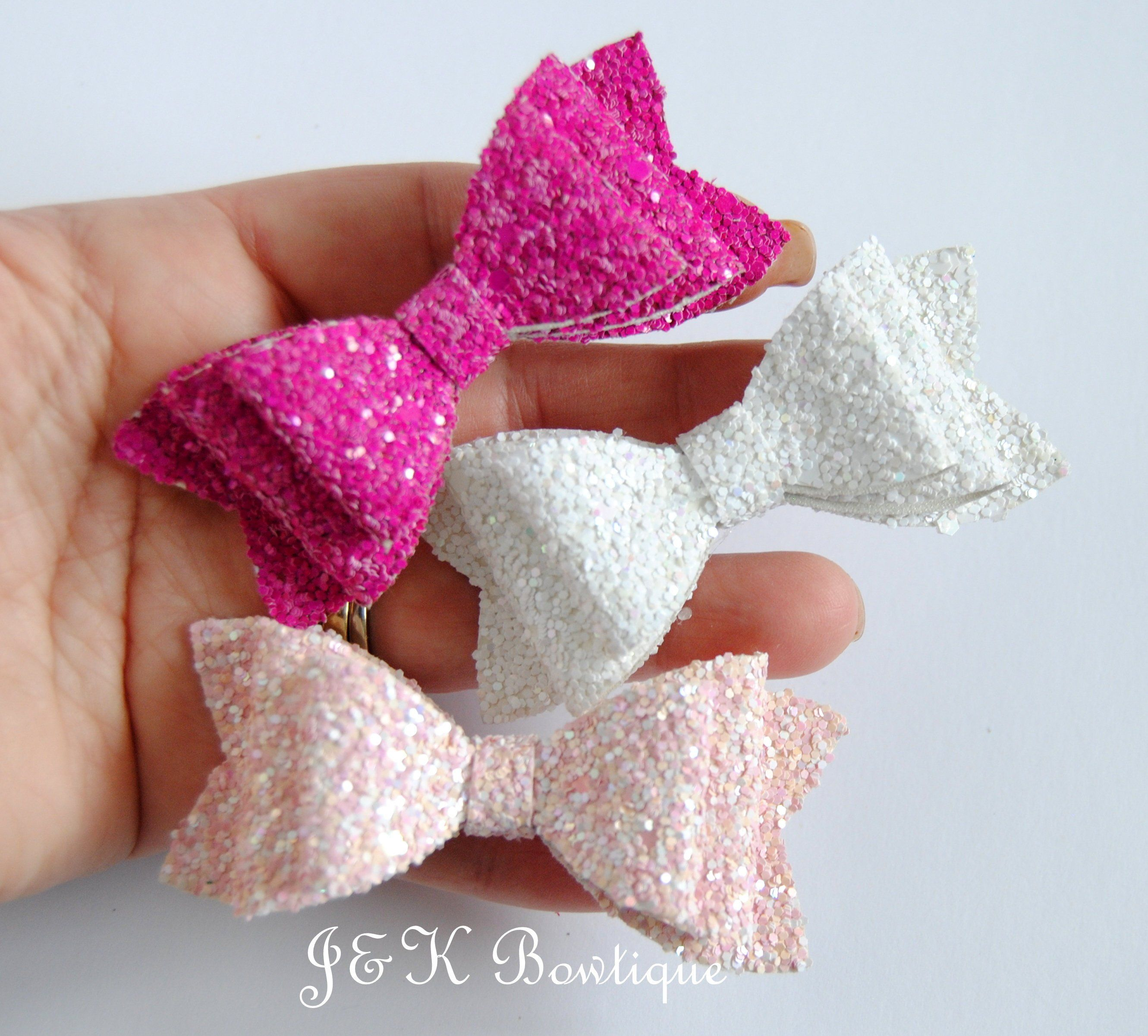 Glittery Leopard /& Pink Pigtail Boutique Bows
