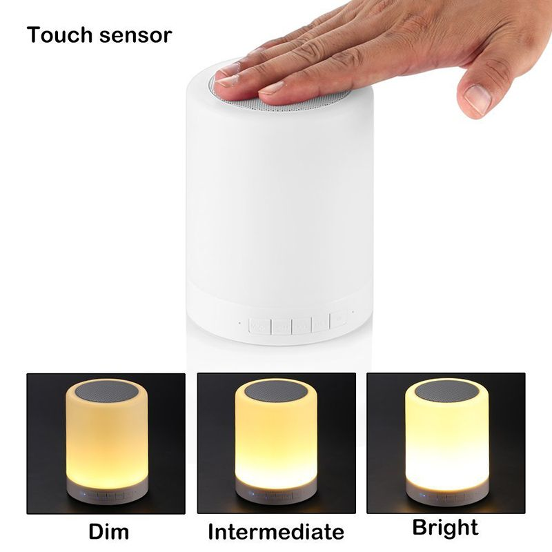 Touch Portable Led Bluetooth Speaker Table Dimmable Lamps Brightness For Phone Music Lamp Portable Music Player Touch Lamp