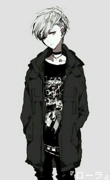 Black And White Cute Anime Boy Dark Anime Anime Boy