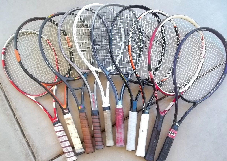 Lot of 10 Wilson Yonex Dunlop Donnay Tennis Racquet Rackets 80s ...