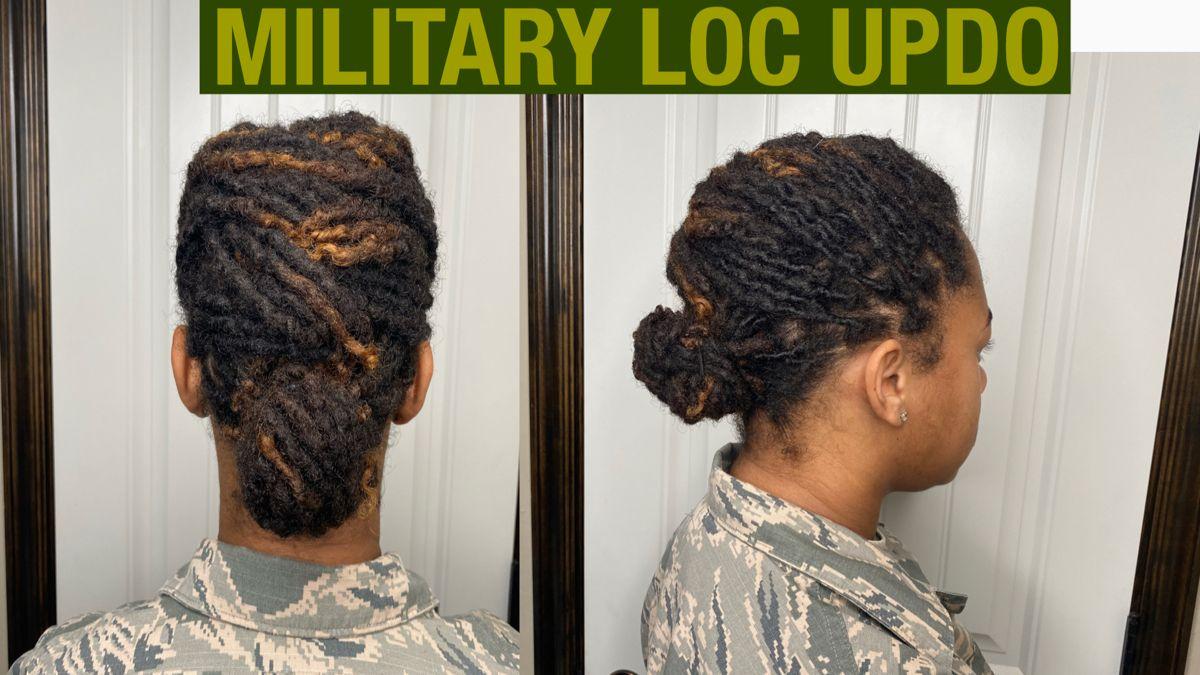 QUICK MILITARY LOC UPDO | Loc Styles